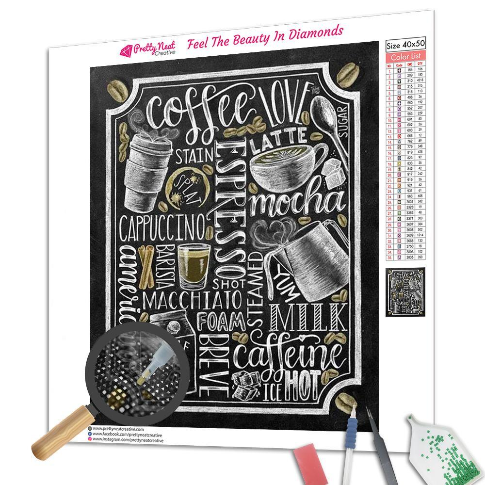 Coffee Menu Square Diamond Painting