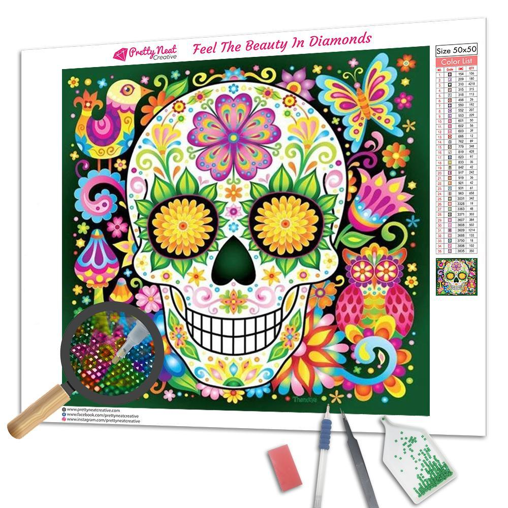 Color Skulls Square Diamond Painting