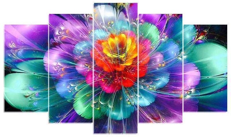 Colorful Flower Square Multi-Diamond Painting