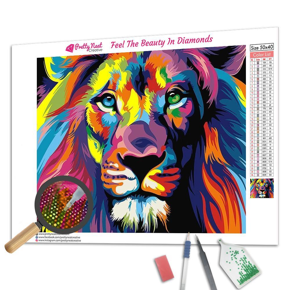 Colorful Lion Square Diamond Painting