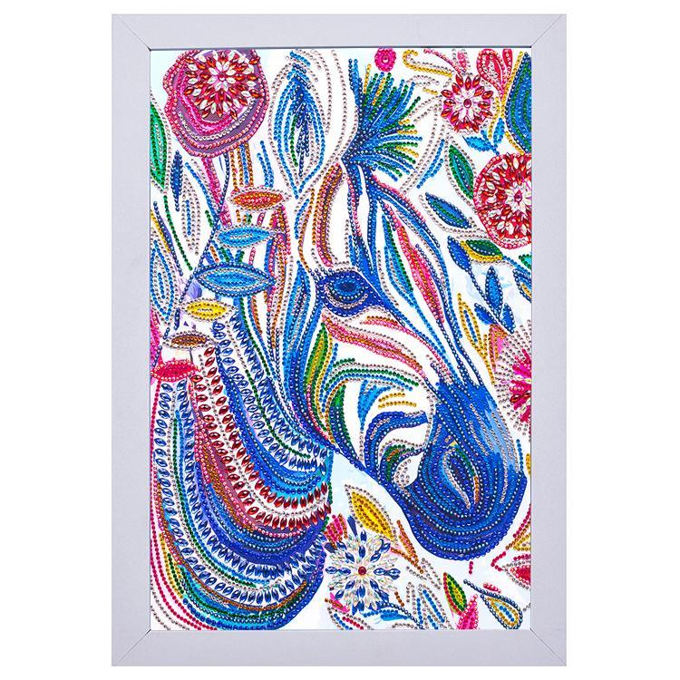 Colorful Zebra Diamond Painting With Frame 20*30CM
