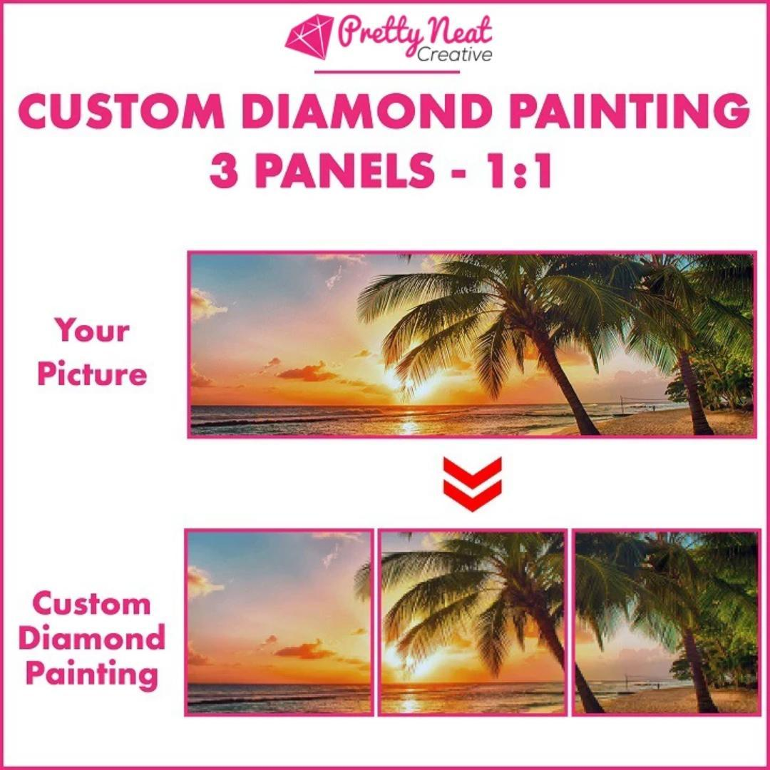 CUSTOM DIAMOND PAINTING PICTURE - 3 Panels 1:1