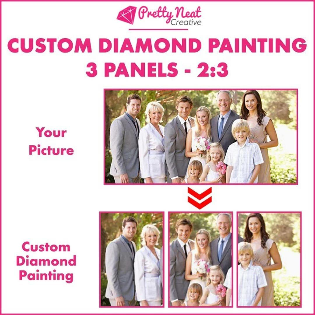 CUSTOM DIAMOND PAINTING PICTURE - 3 Panels 2:3