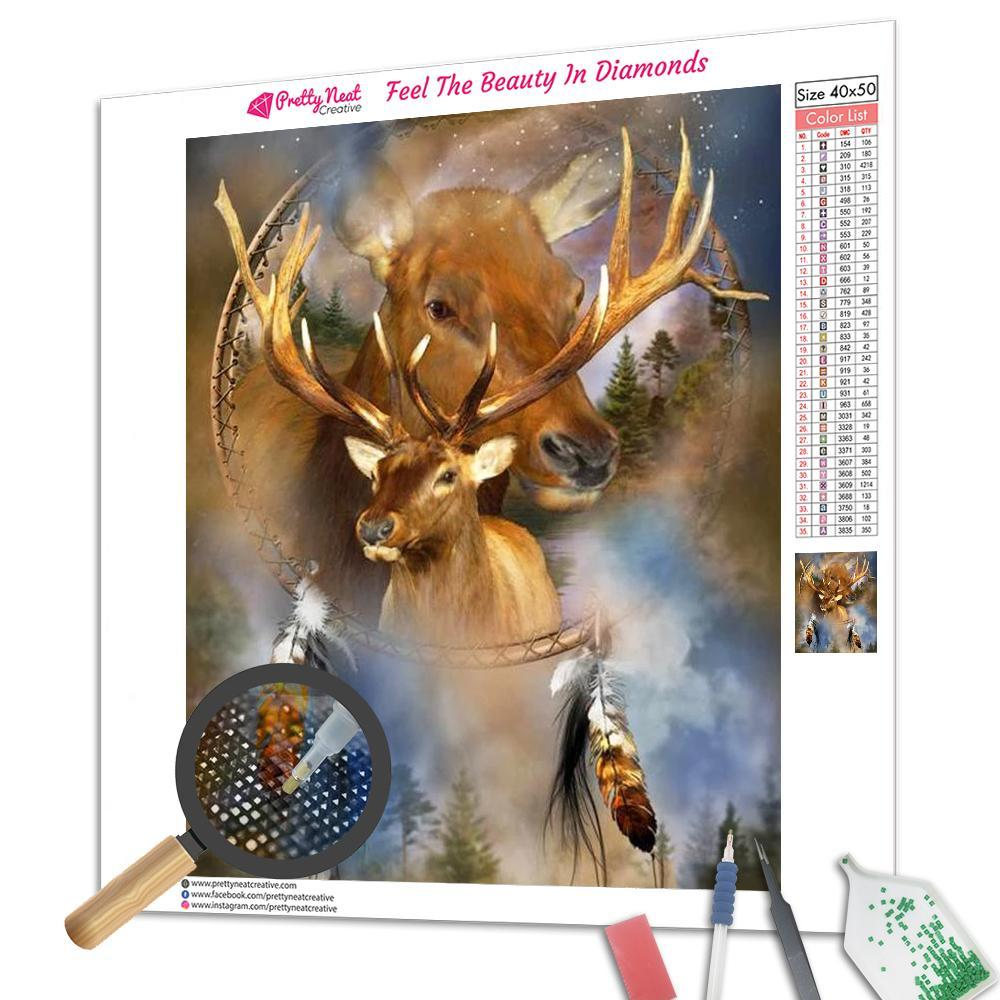 Deer Dream Catcher Square Diamond Painting