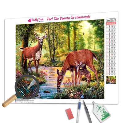 Deer Family Diamond Painting