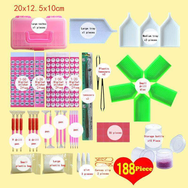 Diamond Painting Tools Full Kits 188pcs/set