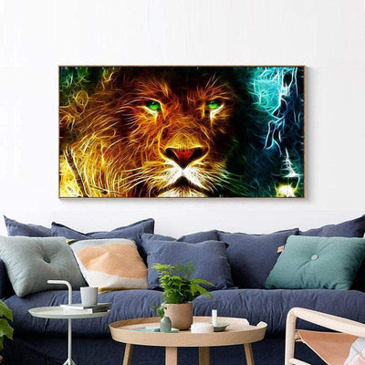 Divine Lion Square Diamond Painting