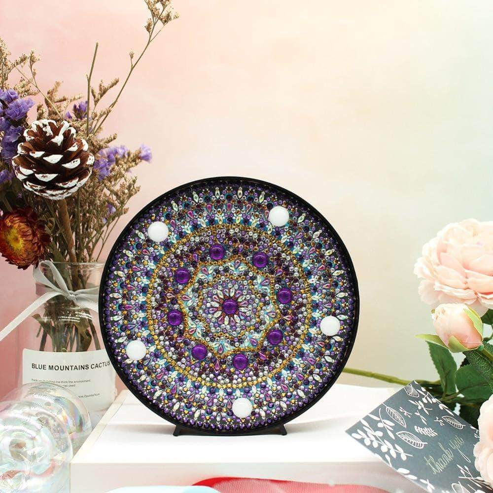 DIY Amethyst Chakra Light Diamond Painting