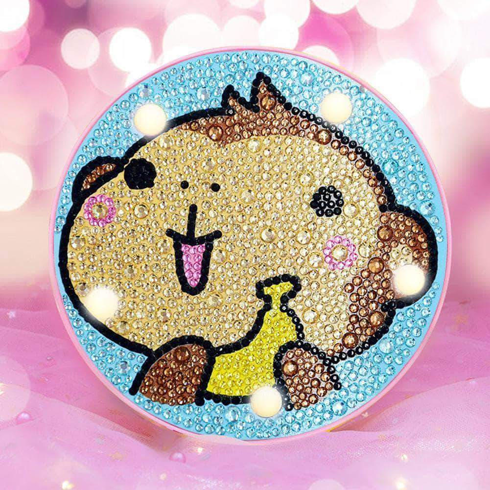 DIY Baby Monkey Cute Light Diamond Painting