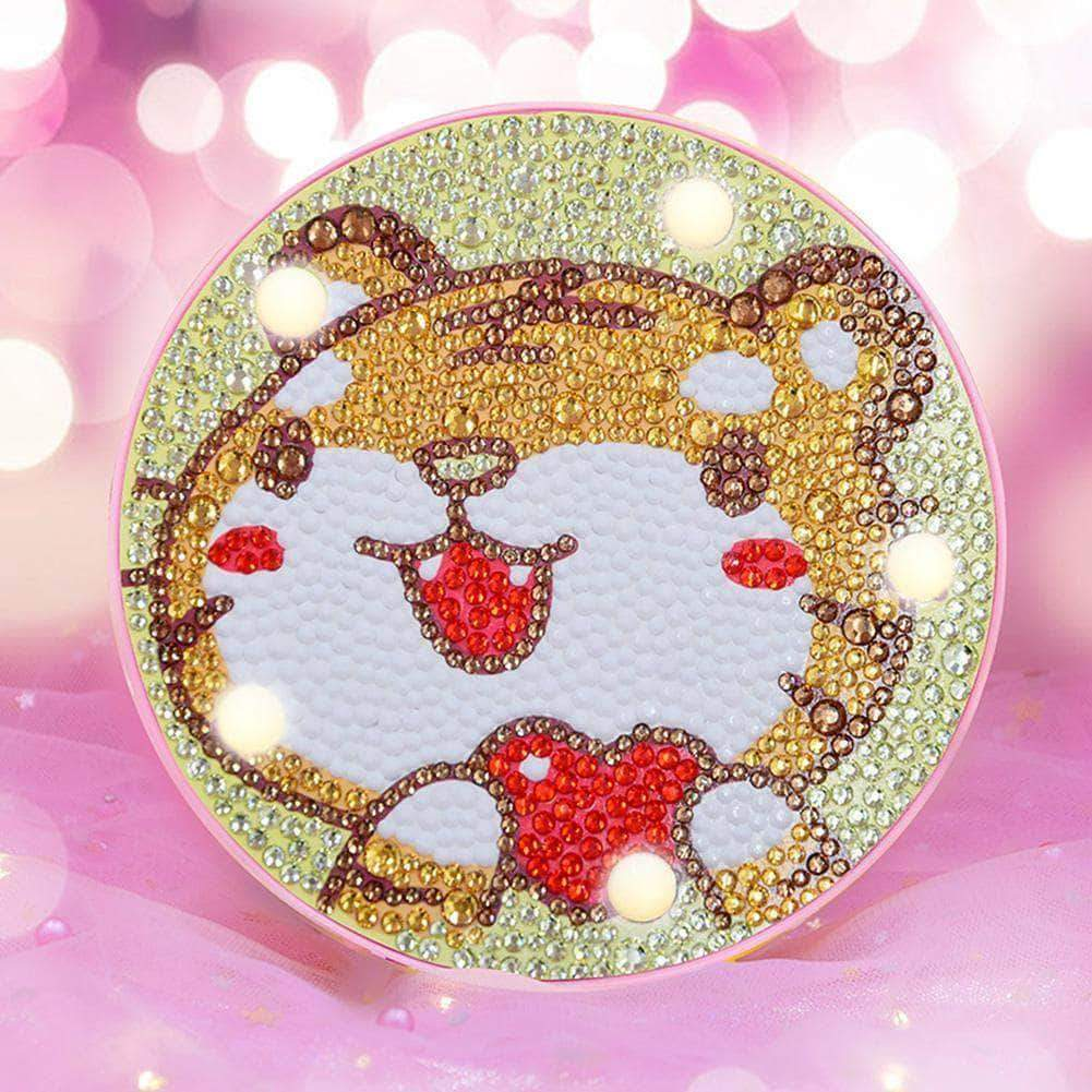 DIY Baby Tiger Cute Light Diamond Painting