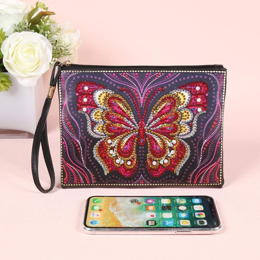 DIY Butterfly Clutch Bag Diamond Painting