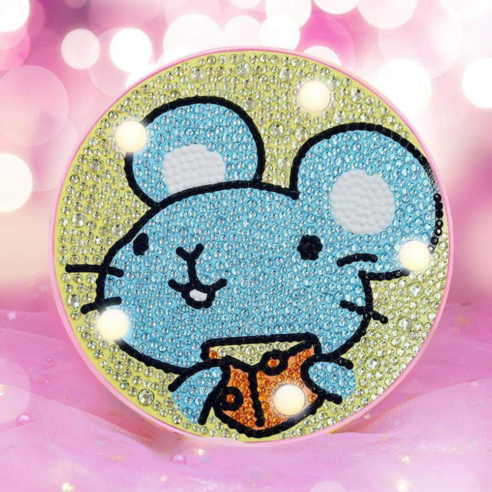 DIY  Cute Mouse  Light Diamond Painting