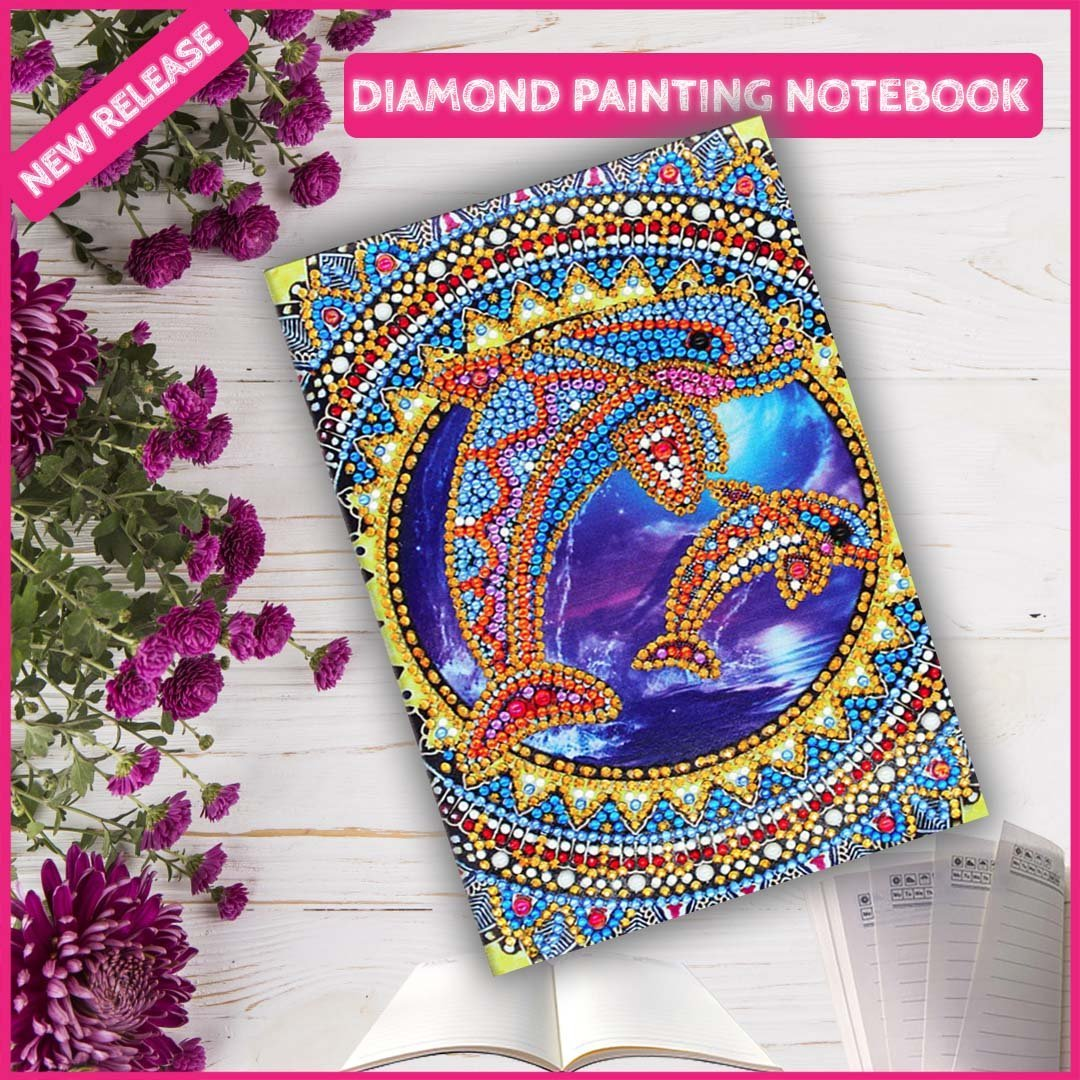 DIY Dolphin NoteBook Diamond Painting