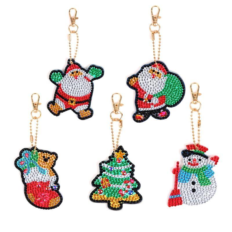 DIY Lovely Christmas Keychain Diamond Painting