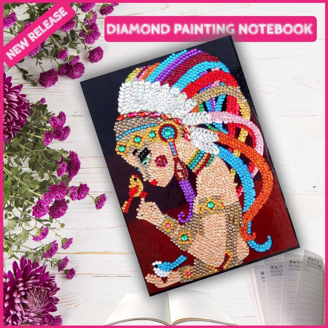 DIY Native American Baby Girl NoteBook Diamond Painting