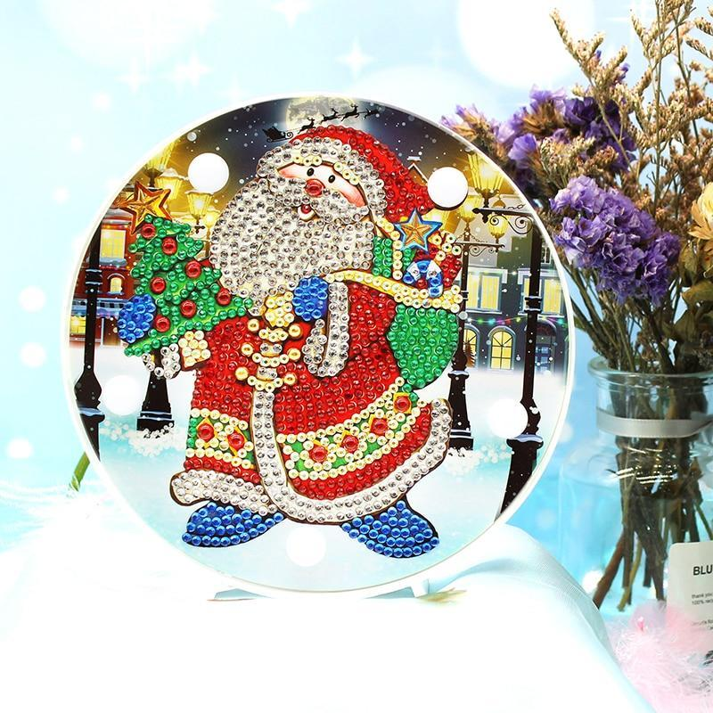 DIY Santa Claus Light Diamond Painting