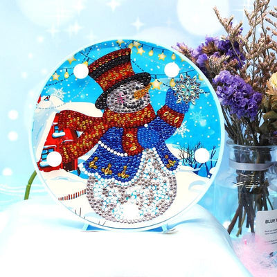 DIY Snowman Light Diamond Painting
