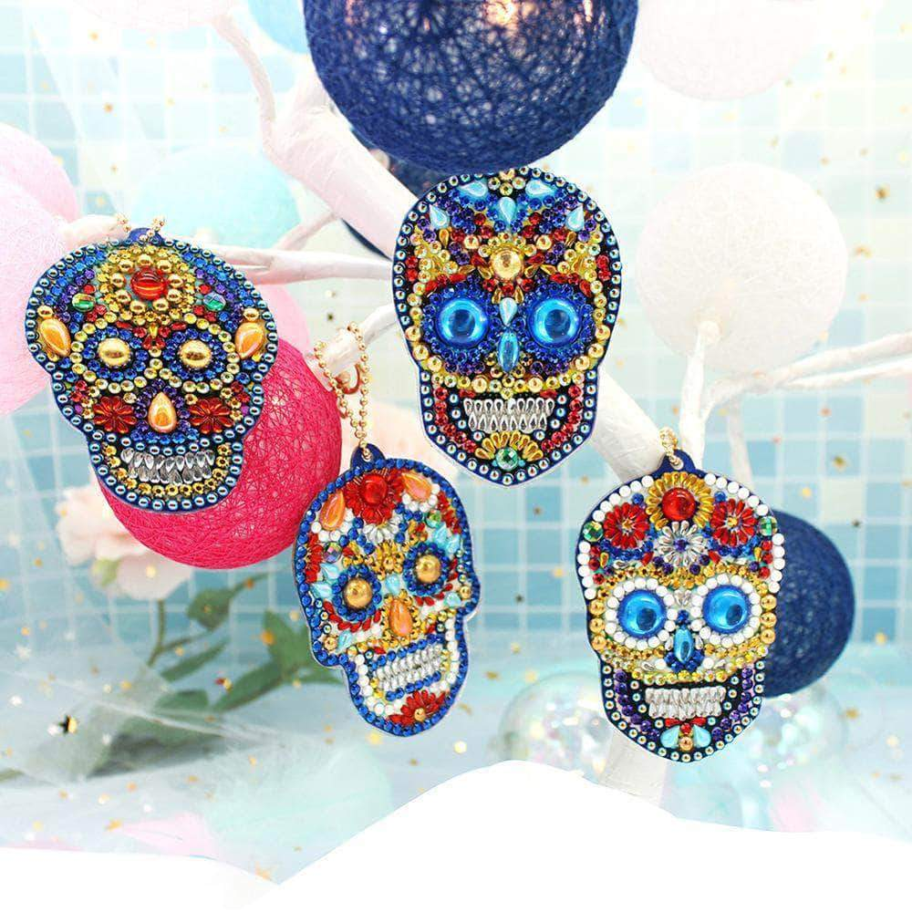 DIY The Sugar Skull Keychain
