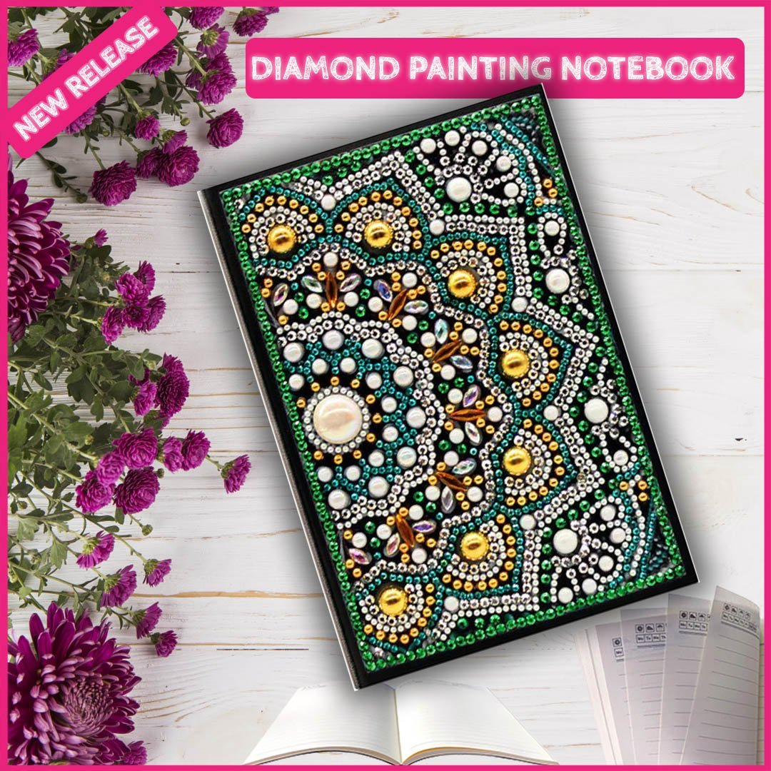 DIY White Pearl NoteBook Diamond Painting