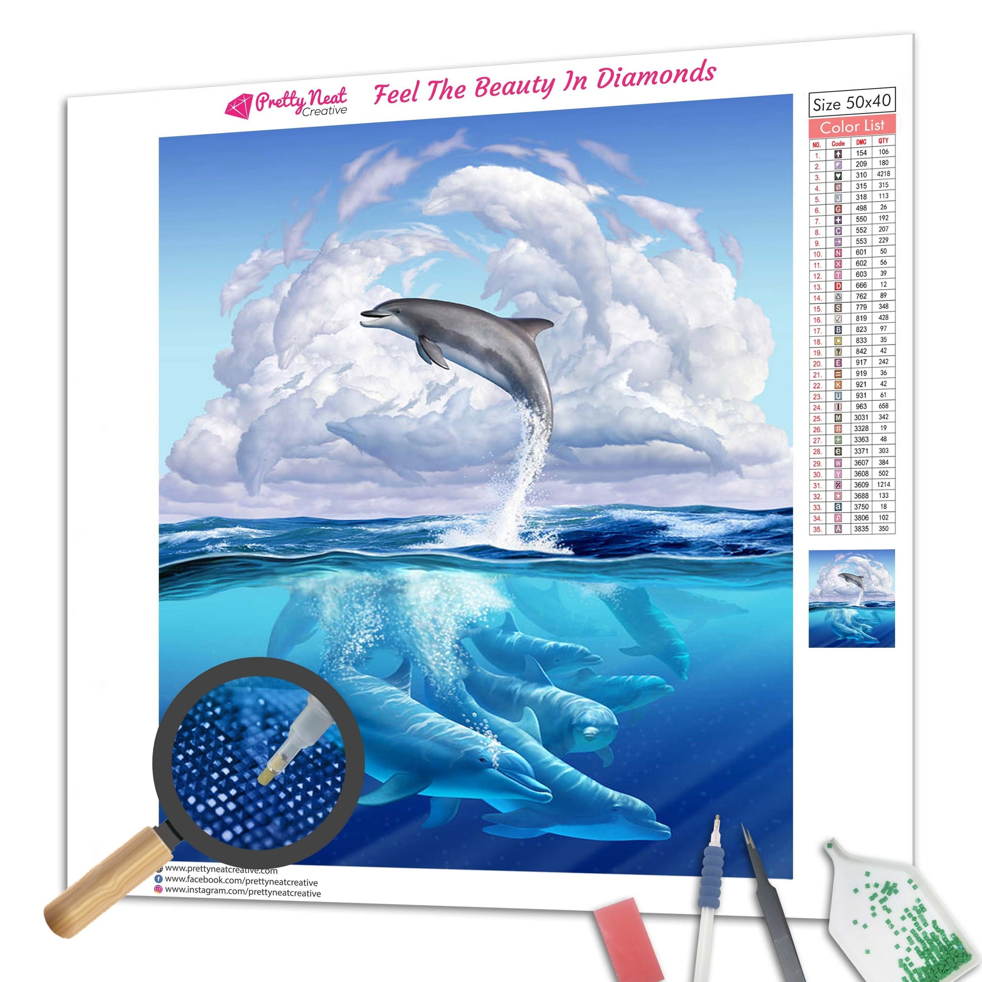 Dolphins Jumping Diamond Painting
