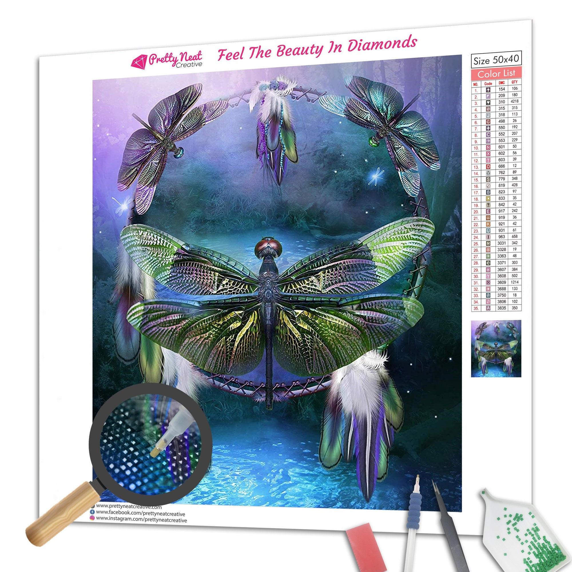 Dragonfly Dreamcatcher Diamond Painting