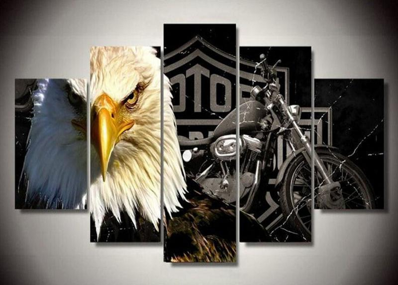 Eagle Motorcycle Square Diamond Painting