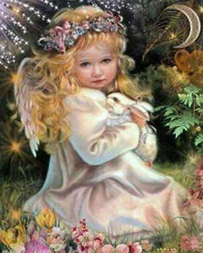 Fairy Little Angel Girl Square Diamond Painting