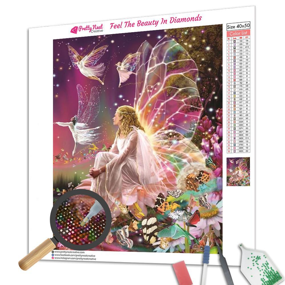 Fairy Queen on The Flower Square Diamond Painting