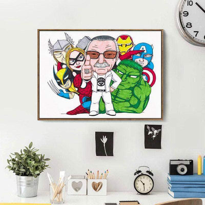 Father Of Marvel Diamond Painting