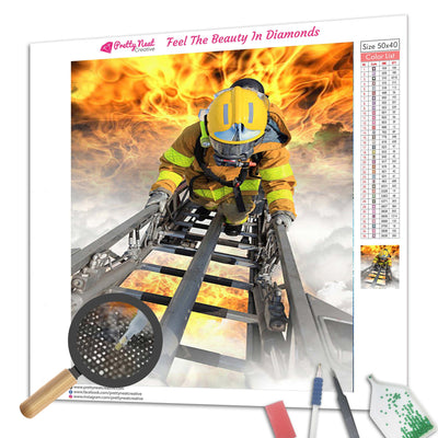 Firefighters Fighting Diamond Painting