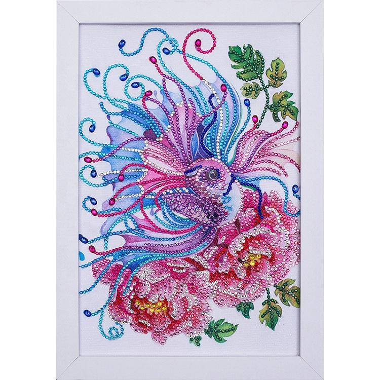 Fish And Flowers Diamond Painting With Frame 20*30cm