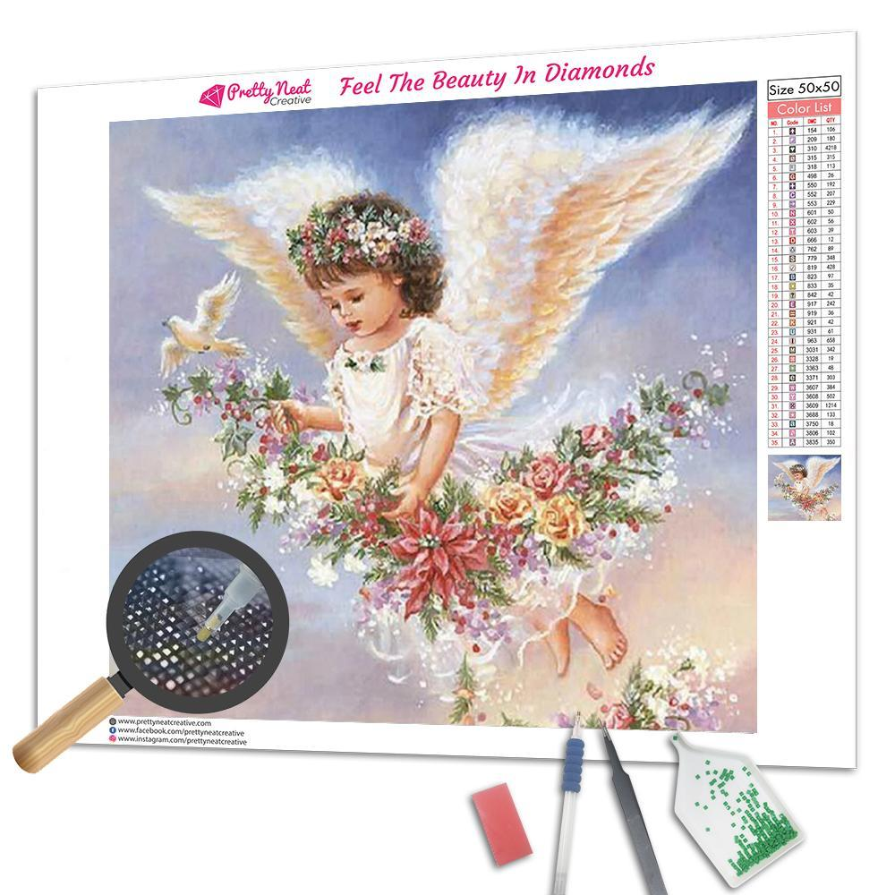 Fly With Little Angel Square Diamond Painting