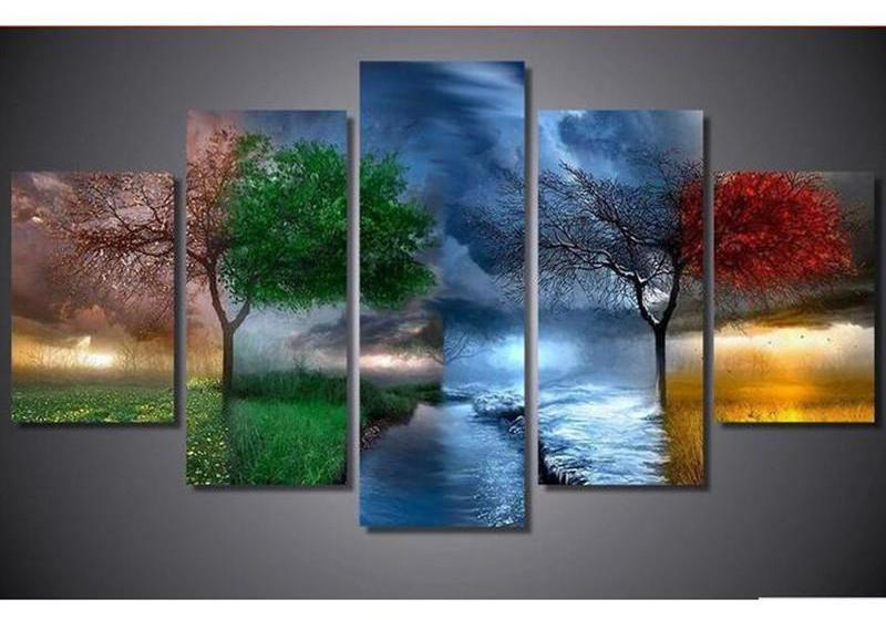 Four Season Tree Square Diamond Painting
