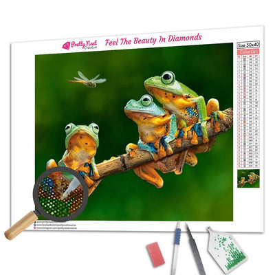 Frogs Square iamond Painting