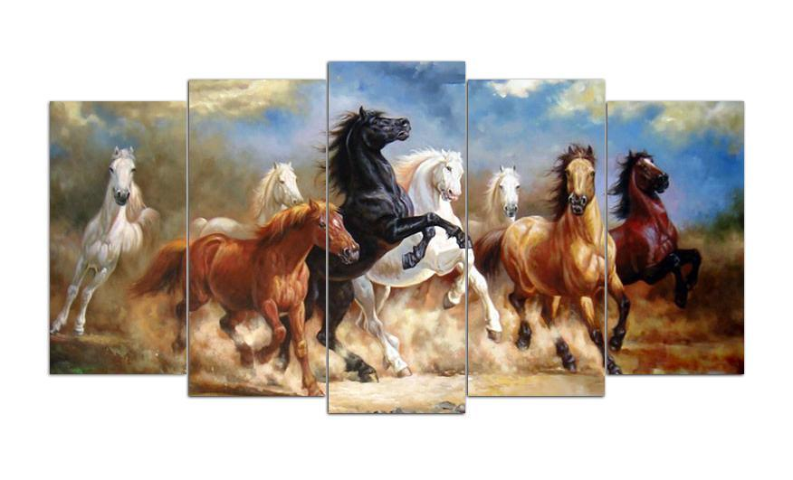 Galloping Horses Square Diamond Painting