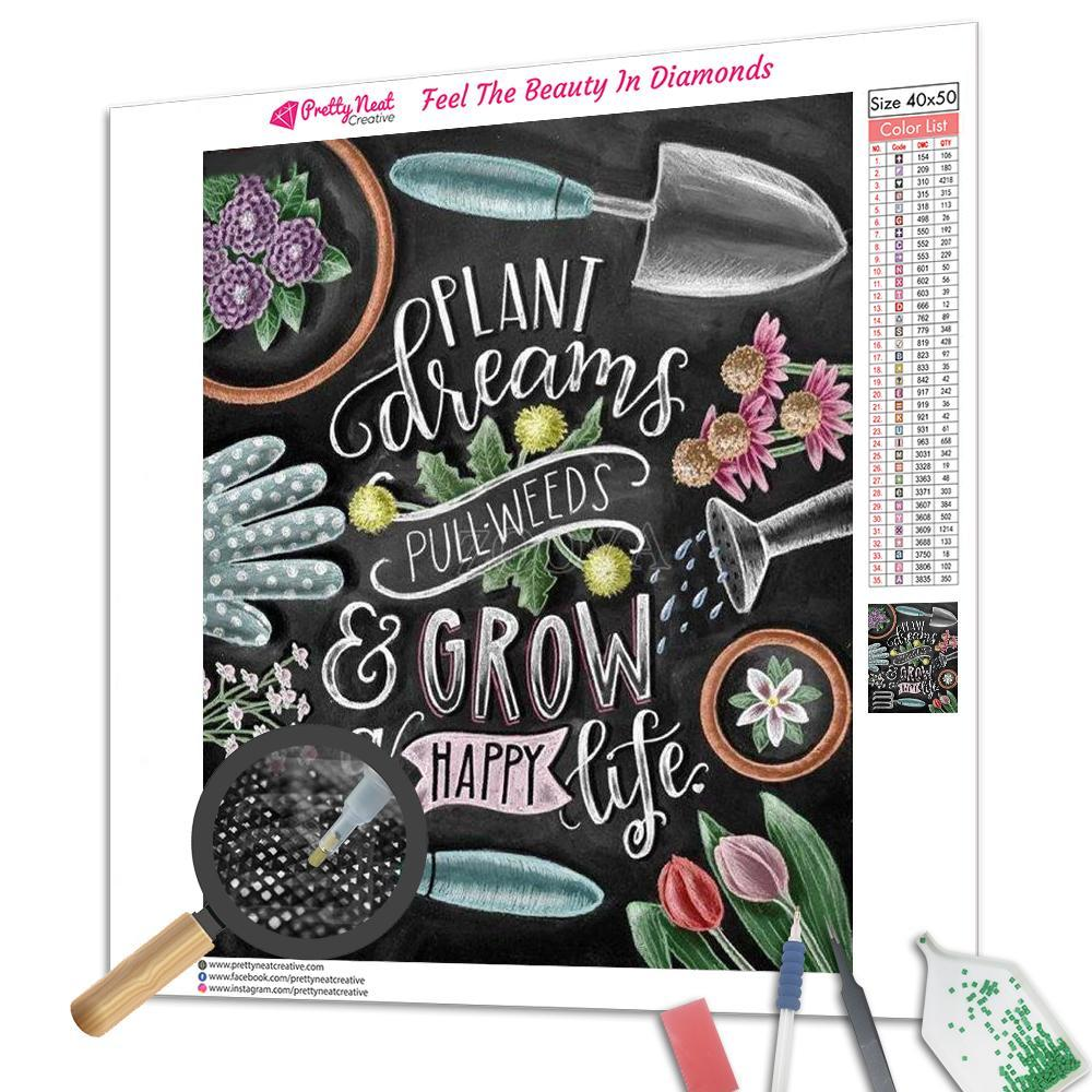 Gardening Quotes Square Diamond Painting