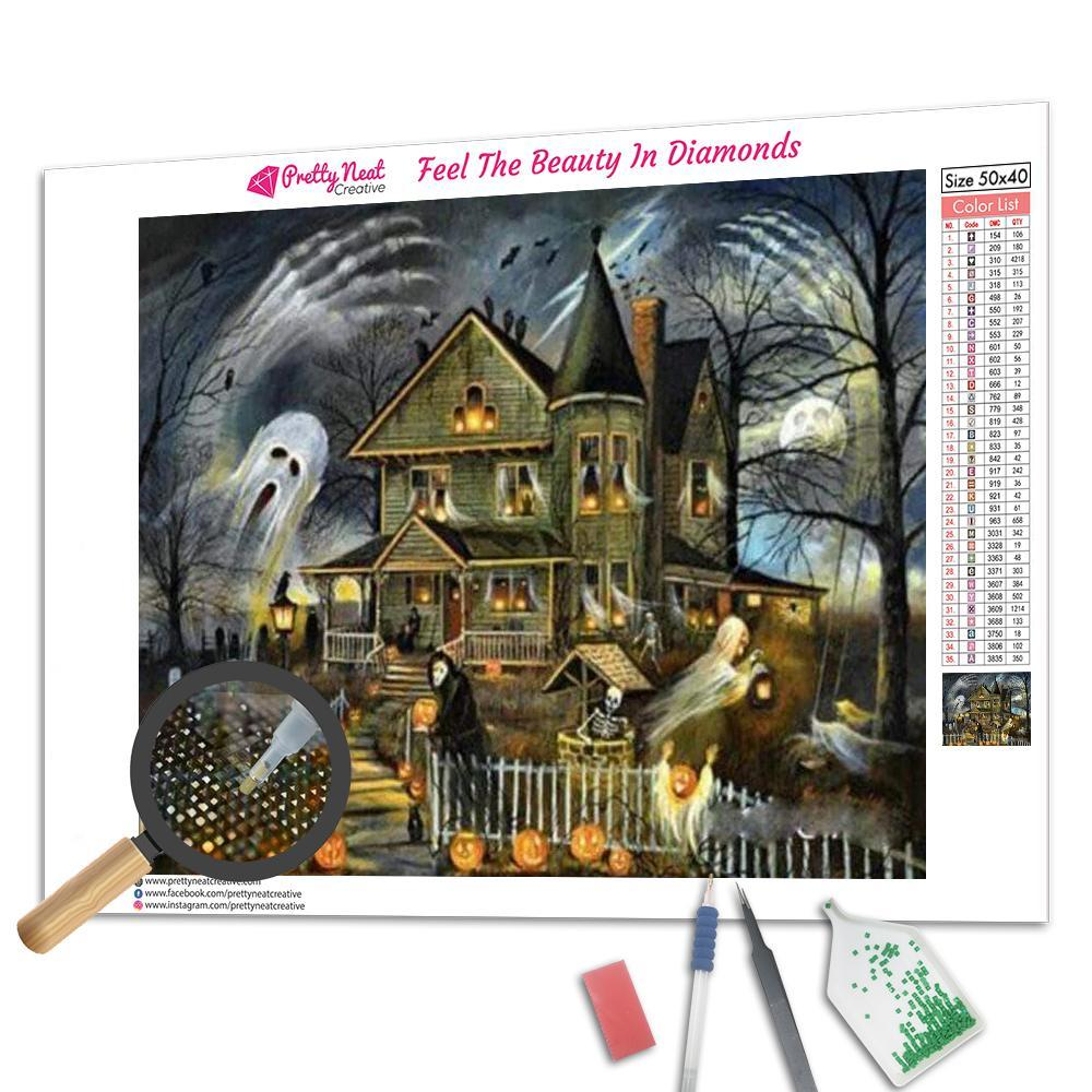 Halloween Haunted House Diamond Painting