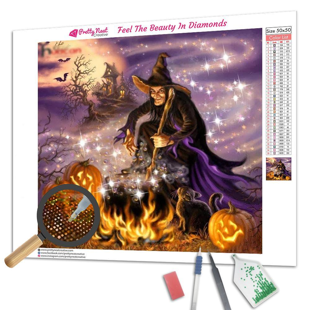 Halloween Horror Night Square Diamond Painting