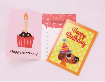 Happy Birthday Cards Round Diamond Painting