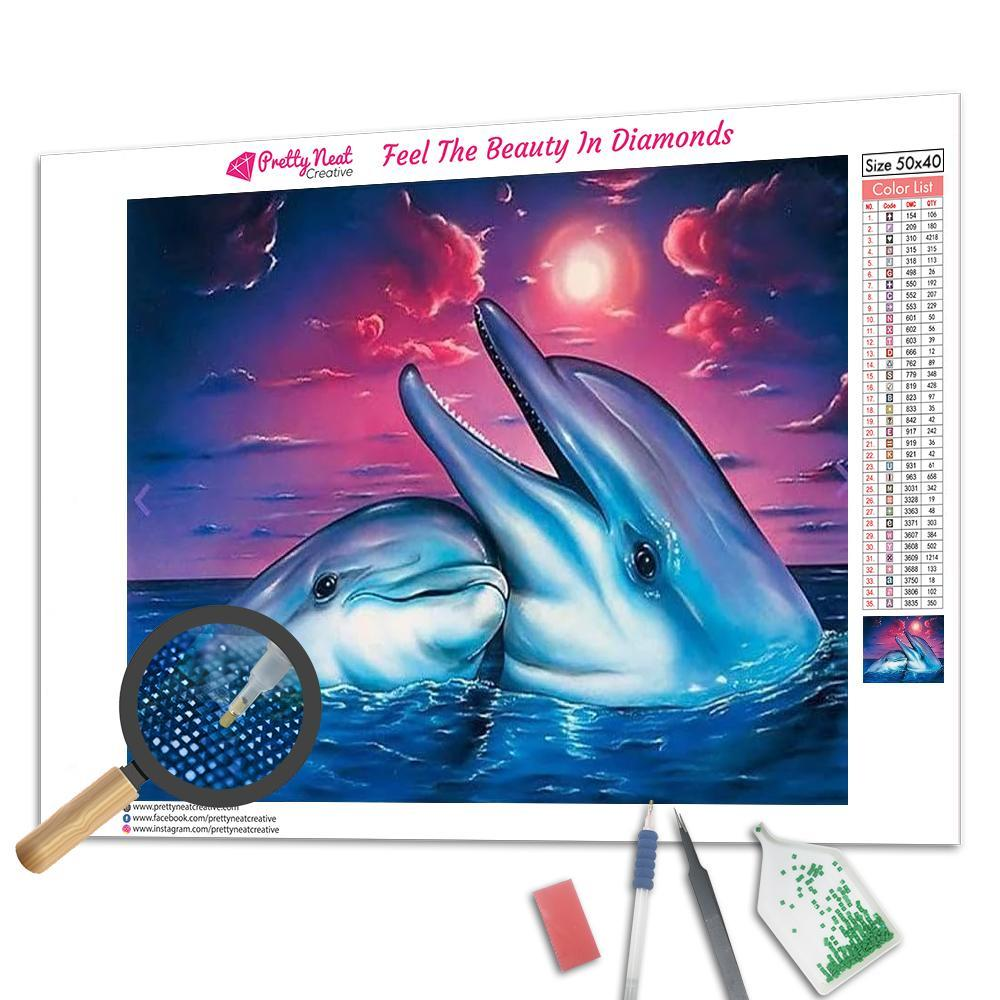 Happy Dolphin 5D Square Diamond Painting