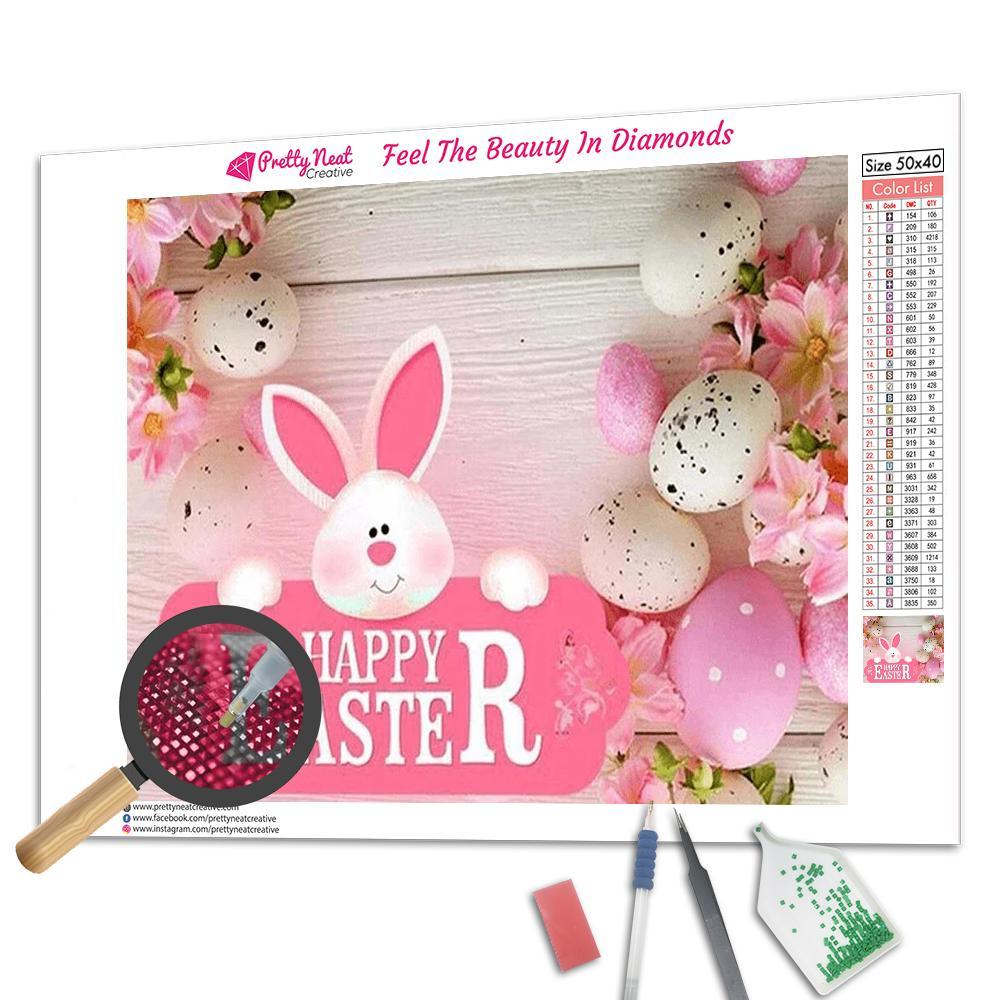 Happy Easter 5d Diamond Paining