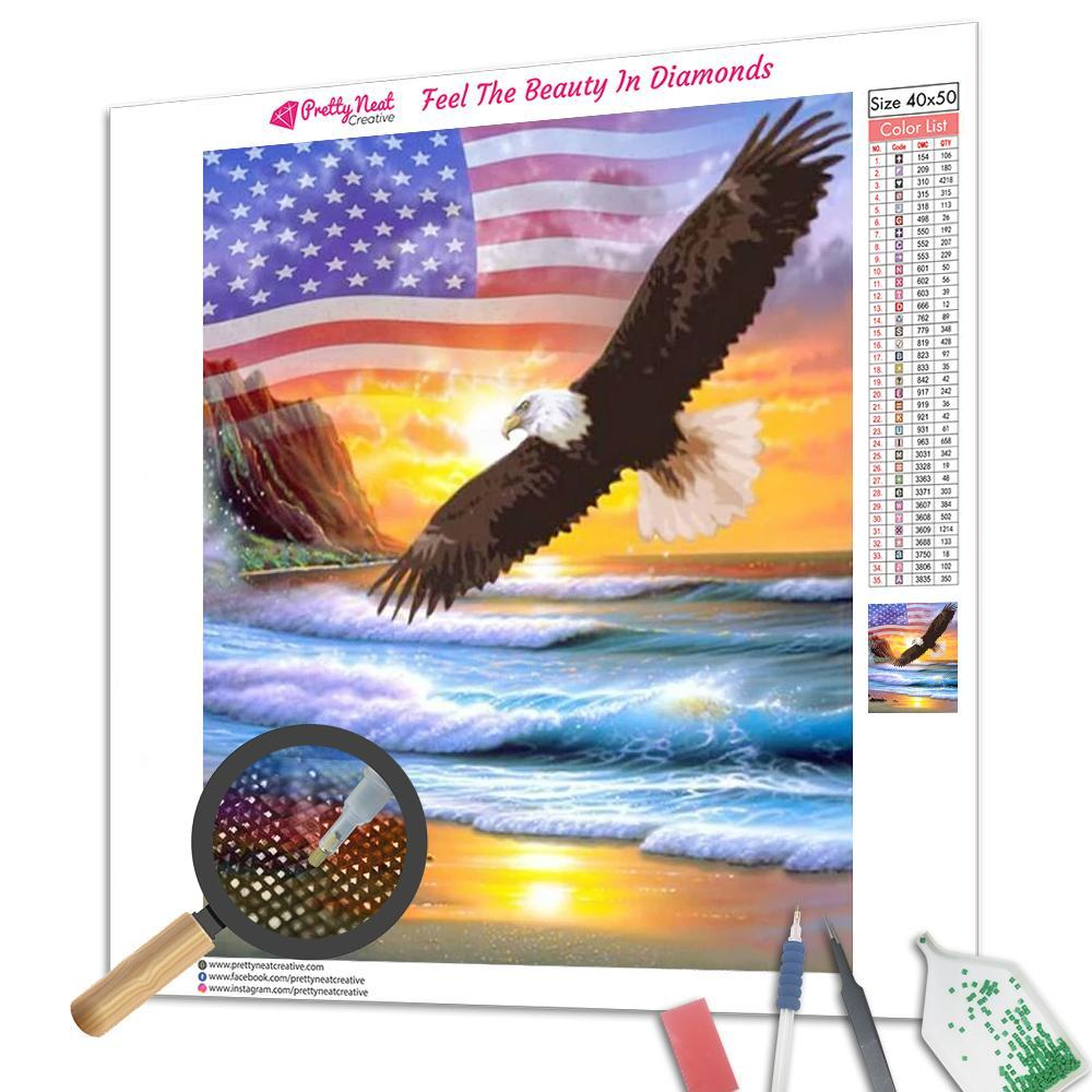 Happy Independence Day Square Diamond Painting