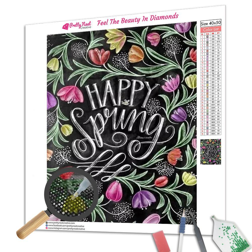 Happy Spring Square Diamond Painting