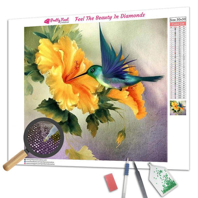 Hummingbird Square Diamond Painting