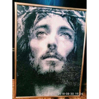Jesus Black And White 5D Square Diamond Painting
