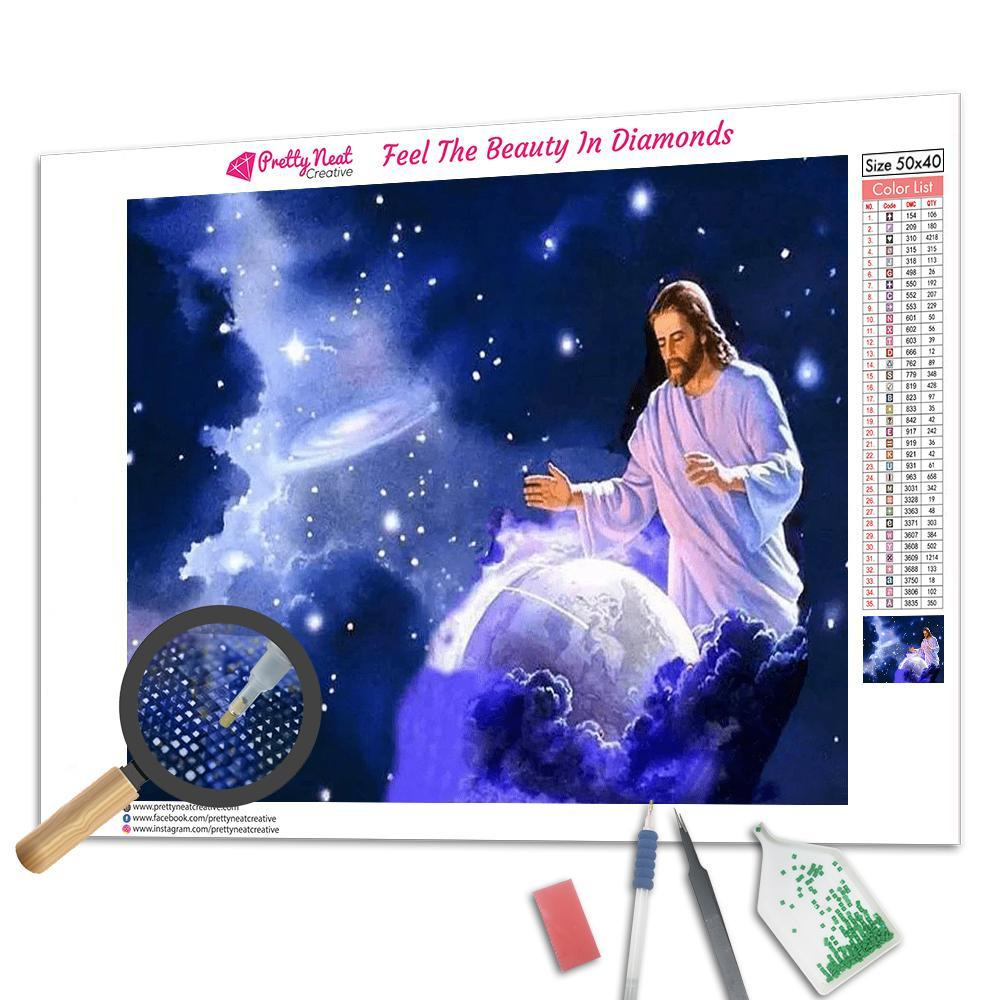Jesus Holds The Earth Diamond Painting