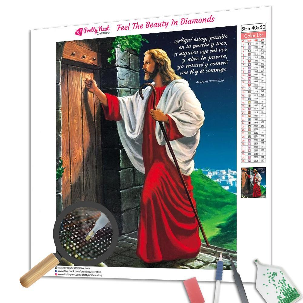 Jesus Knocking at the Door Square Diamond Painting