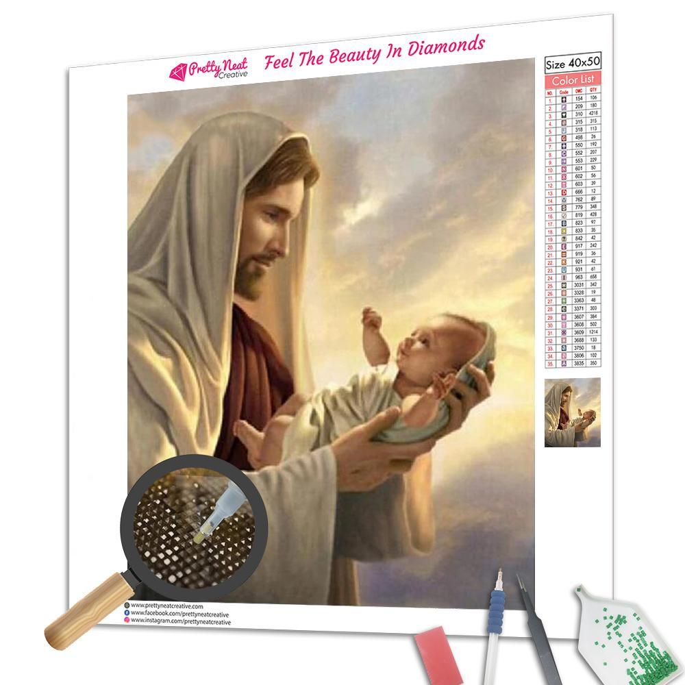 Jesus Loves Children Square Diamond Painting