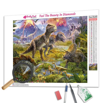 Jurassic Dinosaur Square Diamond Painting