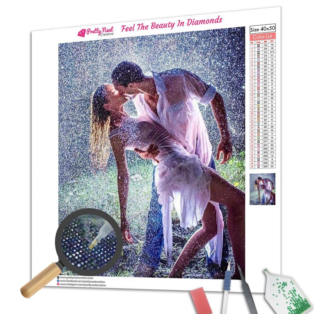 Kiss In The Rain Square Diamond Painting
